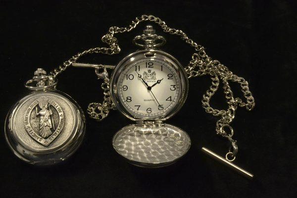 Pewter Pocket Watch